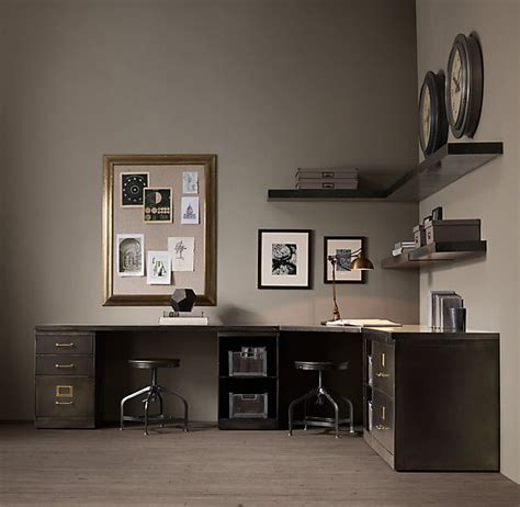 two desks two sided desk a best solution for limited office space
