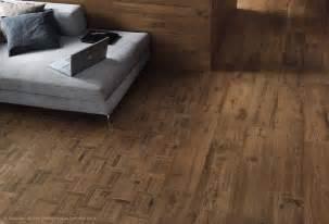 elegant wood look tile floors family room design with