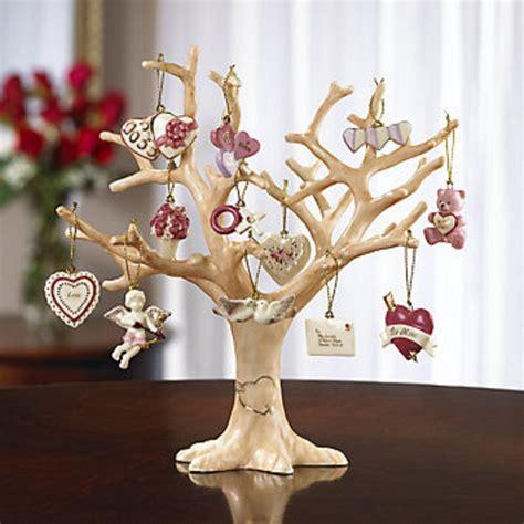 lenox valentine be mine miniature tree ornaments set of 12 heart dove cupid new ornaments