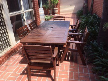 clarecraft solid jarrah outdoor table  chairs outdoor