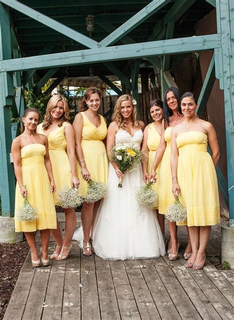 bridesmaid short outfit  yellow shades designers