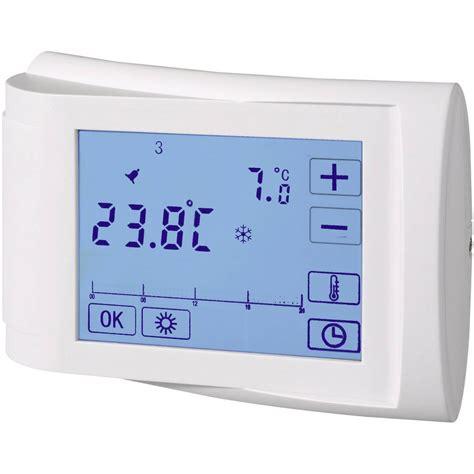 termostato ambiente da parete settimanale  fino     vendita   conrad