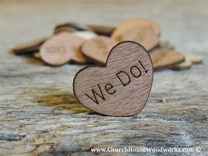 Rustic 4 Weddings: We Do Rustic Wood Heart Confetti for
