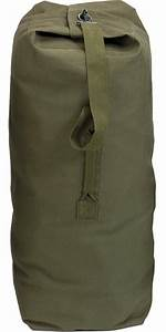 olive drab large top load duffle bag cotton