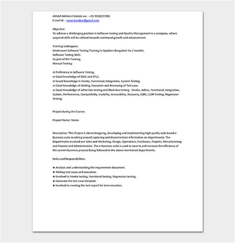 web designer fresher resume