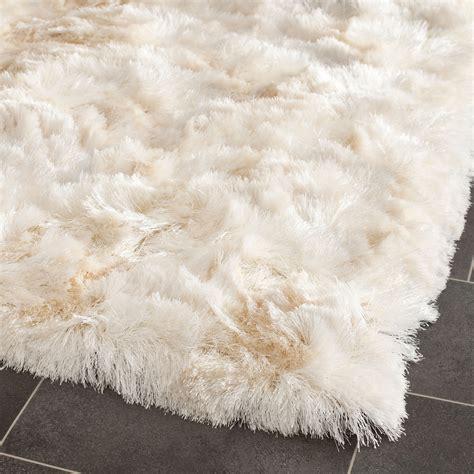 silken shag rug safavieh tufted silken ivory shag area rugs sg511 1212