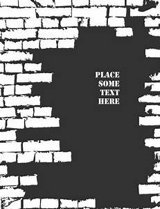 Brick wall object backgrounds vector graphics free