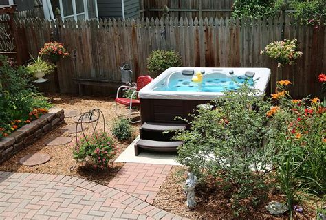 Backyard With Tub by Backyard Ideas For Tubs And Swim Spas