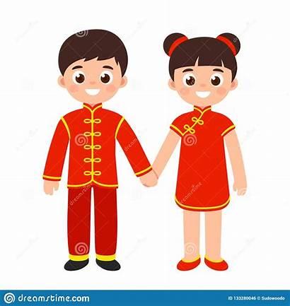 Chinese Traditional Costumes Cartoon China Costume Children