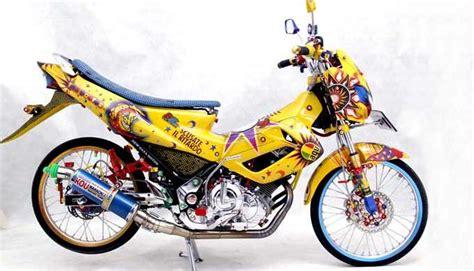 Gambar Motor Modifikasi by Gambarbaru 7 Gambar Modifikasi Motor Satria Fu Paling Keren