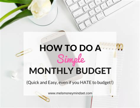 How To Do A Simple Monthly Budget