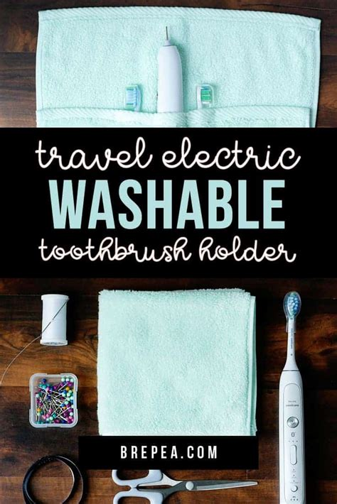 DIY Washable Travel Electric Toothbrush Holder | Bre Pea