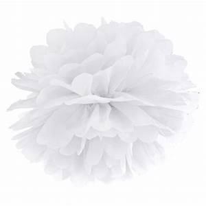 Papier De Soie Blanc : pompons fleur papier en soie suspendre blanc ~ Farleysfitness.com Idées de Décoration