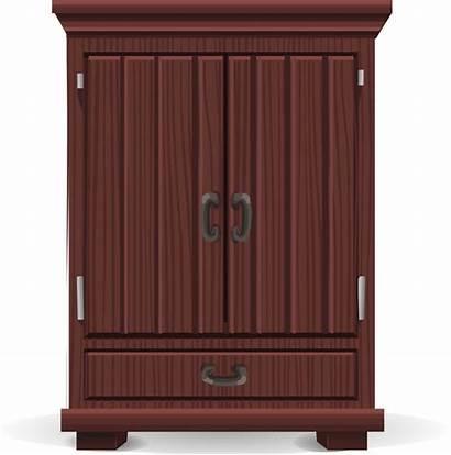 Closet Cabinet Transparent Armoire Mahogany Wardrobe Glitch