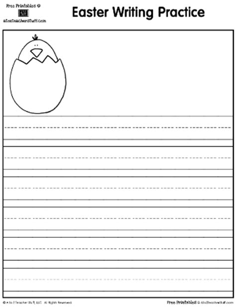 Easter Writing Practice and Shape Book Pages | A to Z