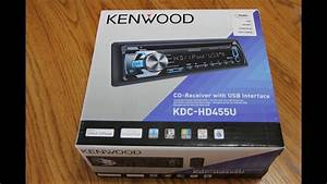 Kenwood Kdc-hd455u - Installation - Unboxing