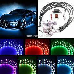 7 Color Led Under Car Modified Truck Jeep Glow Underbody