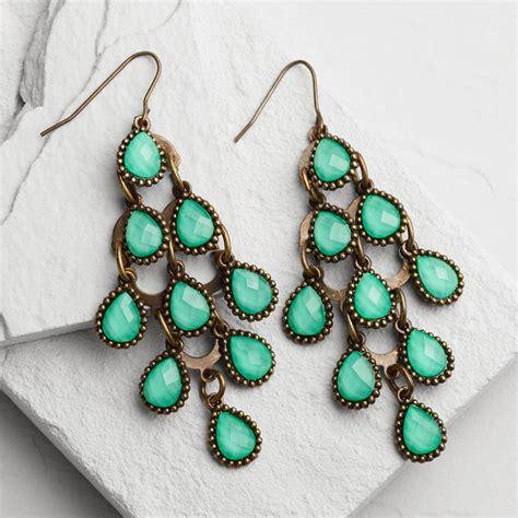 turquoise chandelier earrings turquoise chandelier earrings world market