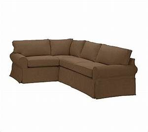 pb basic right 3 piece small sectional slipcover With small slipcovered sectional sofa