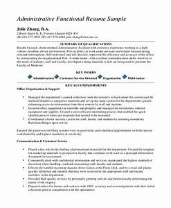 executive administrative assistant resume 10 free word With functional resume outline