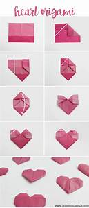 Herz Falten Origami : die besten 25 origami herz ideen auf pinterest herz falten saint valentine und kariertes papier ~ Eleganceandgraceweddings.com Haus und Dekorationen