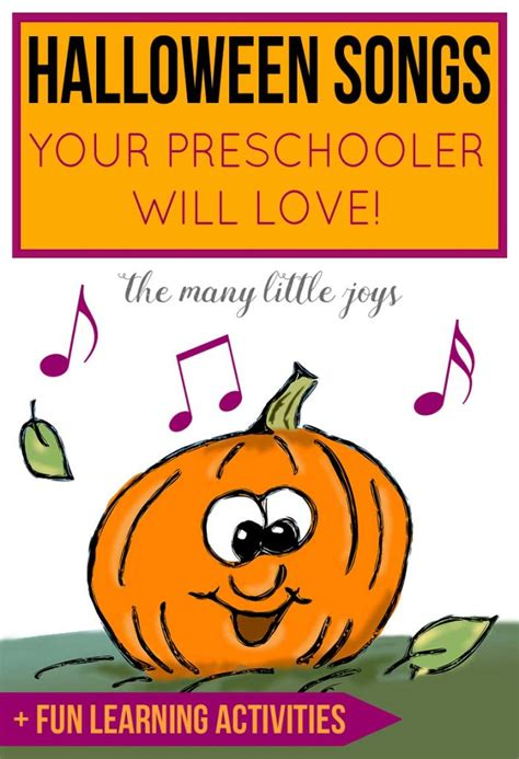 songs your preschooler will learning 725 | Halloween Songs Your Preschooler Will Love Pin 700x1024