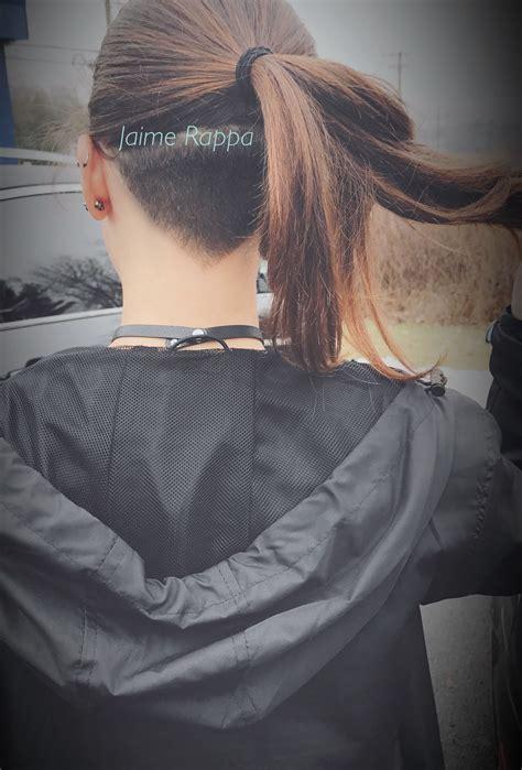 shape undercut  ponytail hair
