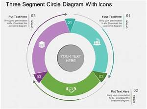 Cn Three Segment Circle Diagram With Icons Flat Powerpoint