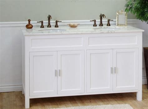 Bathroom Vanities 60 Inches Sink by 60 Inch Sink Bathroom Vanity In White Uvbh60016860w60