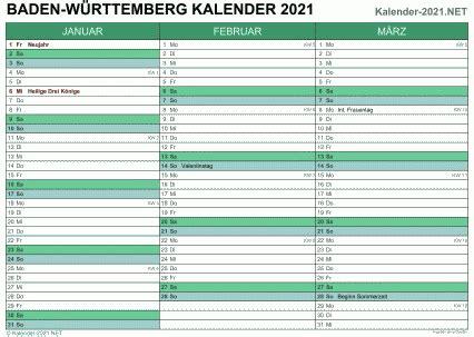 Overzichtelijke jaarkalender van 2021, de data worden per maand getoond inclusief weeknummers. Kalender 2021 Baden Württemberg Kalenderpedia : Kalender 2021 Hamburg Ferien Feiertage Excel ...