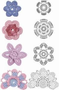Crochet Flowers Diagram 3