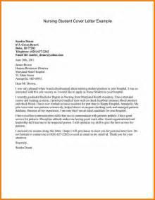 resume cover letter for nursing student application letter for nursing