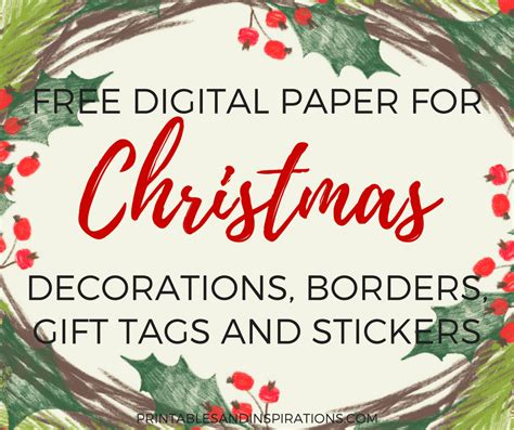 free digital paper for christmas decorations gift tags