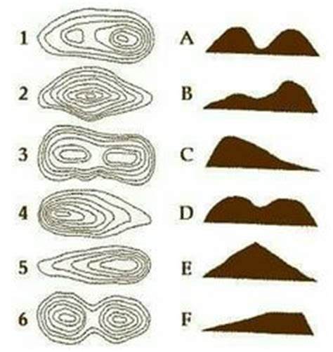 topographic map matching social studies worksheets