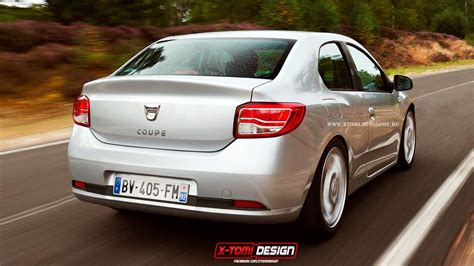 dacia logan coupe rendering   autoevolution