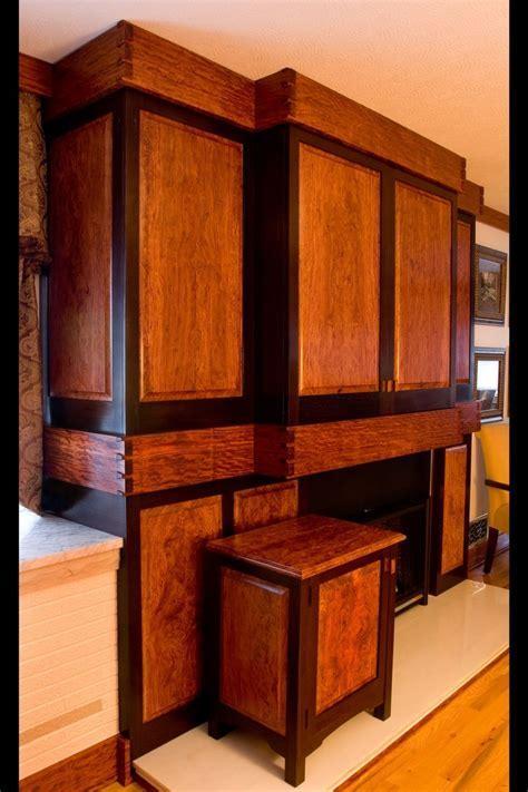 Handmade Built In Bubinga & Wenge Entertainment Cabinet by