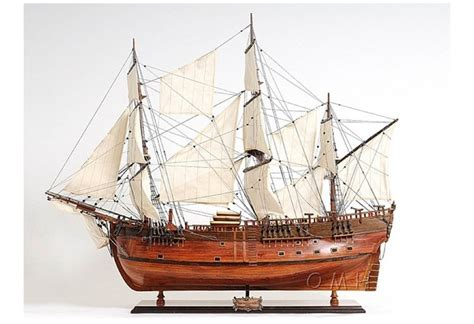 """HMS Endeavour Hand Crafted Wooden Tall Ship Model 38"""""""
