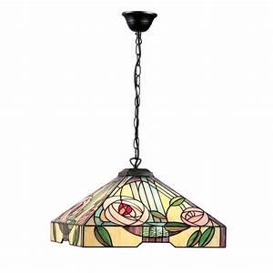 Art nouveau tiffany glass ceiling pendant light in