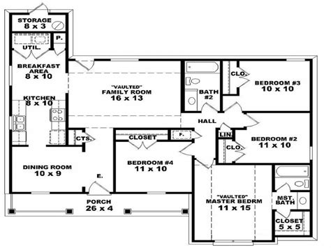4 bedroom floor plans 2 2 bedroom one homes 4 bedroom 2 house floor