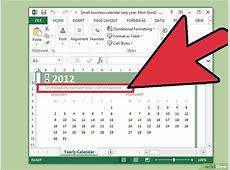 Come Creare un Calendario con Microsoft Excel wikiHow