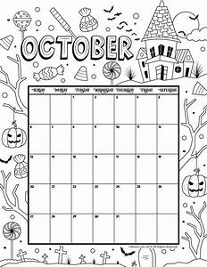 October 2019 Coloring Calendar