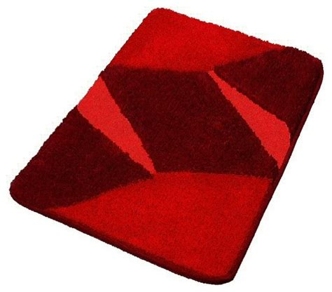 red luxury non slip washable bathroom rugs small