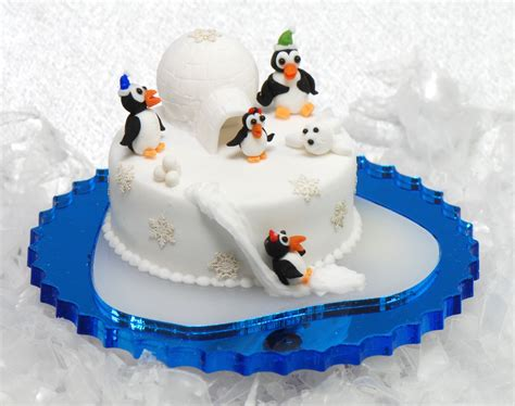 penguin igloo cake kit stewart dollhouse creations