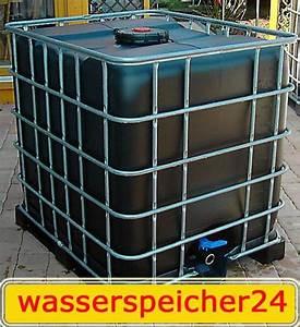 Müllsäcke 500 Liter : 1000 l ibc container schwarz tonne zisterne wasserfass ~ Watch28wear.com Haus und Dekorationen