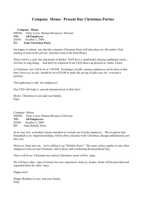 speech by director to employee for xmas party memo