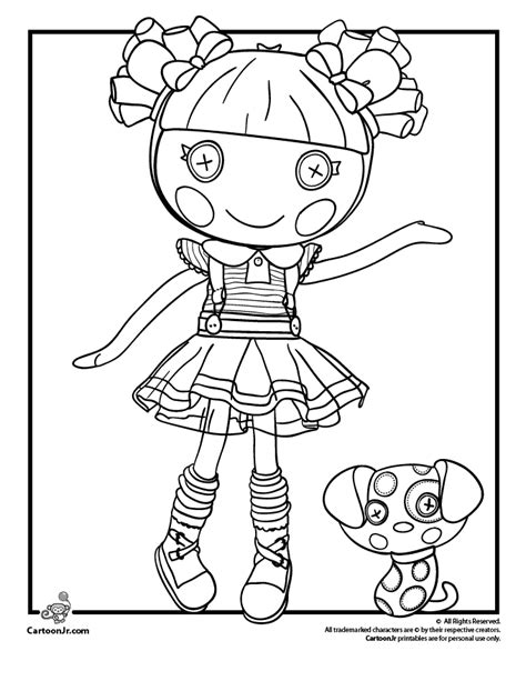 Lalaloopsy Doll Coloring Page Coloring Pages Cute
