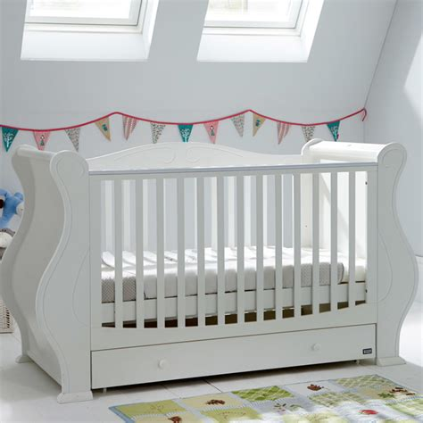 futon beds with mattress included tutti bambini louis cot bed in white sprung mattress