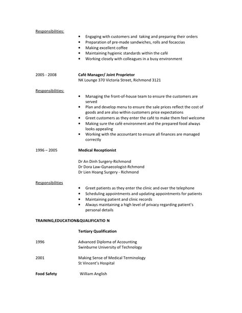 Sle Prep Cook Resume by 28 Food Prep Resume Food Prep Resume Exle Truetts Grille