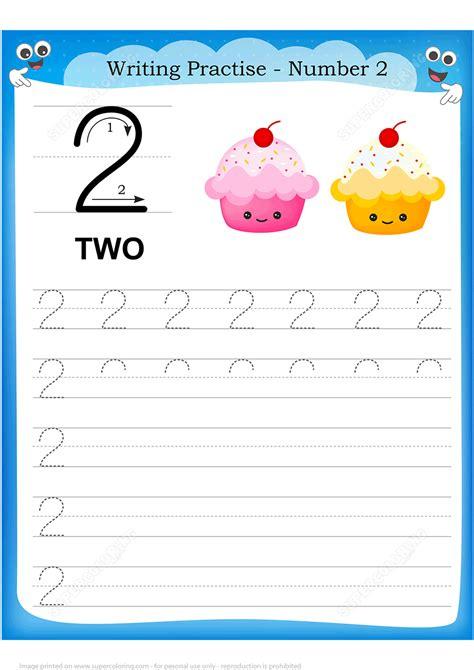 number 2 handwriting practice worksheet free printable puzzle