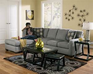 Signature design by ashley zella charcoal 7020067 for Zella sectional sofa chaise